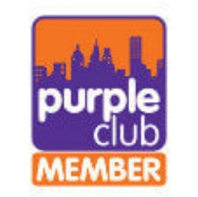 Purple club member logo